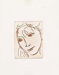 Volto di fanciulla, 1988 . Litografia